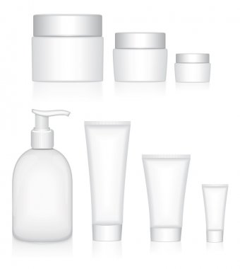 Beauty products. Packaging containers set.