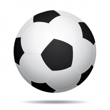 3D Realistic soccer ball icon.