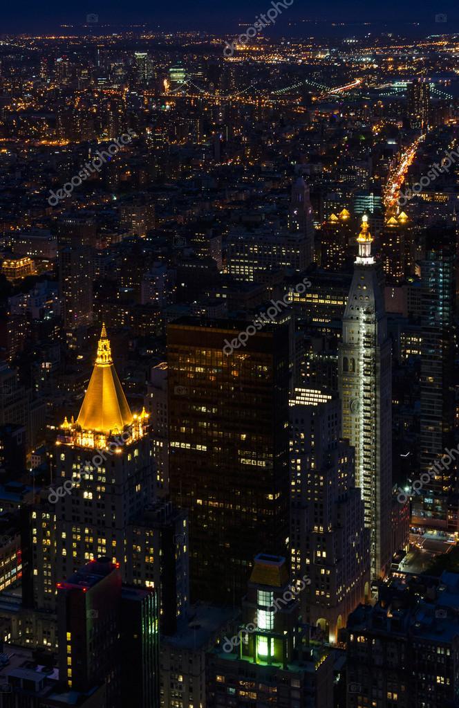 Nyc At Night Wallpaper New York Manhattan View By Night Metropolitan Life Tower And New York Life Building Stock Editorial Photo C Albachiaraa 26428045