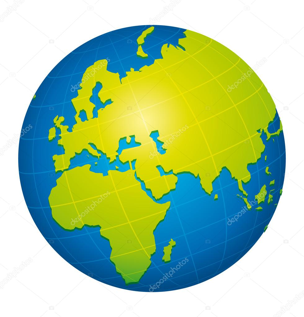 Green world globe icon europe africa and russia view stock green world globe icon europe africa and russia view vector by albachiaraa gumiabroncs Images