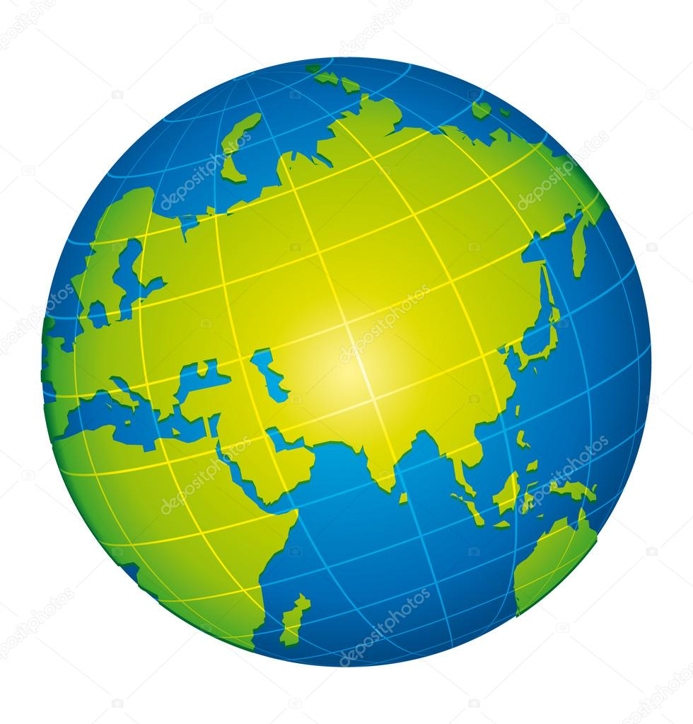 Green world globe icon asian and russia view stock vector green world globe icon asian and russia view stock vector gumiabroncs Images