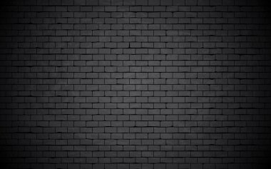 Black grunge brick wall background. stock vector