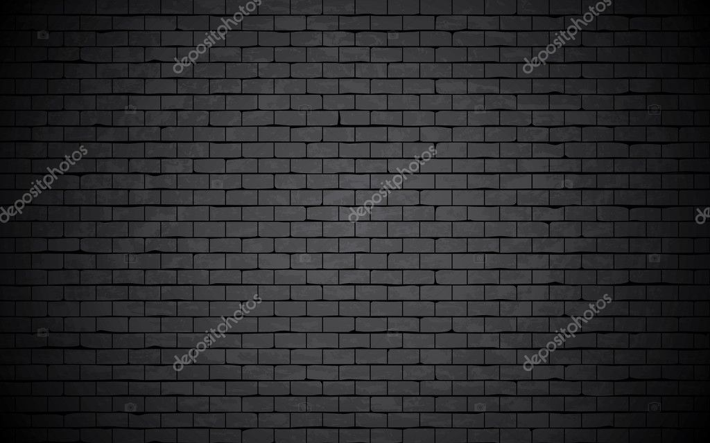 Black grunge brick wall background.
