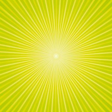 Beautiful green sunburst background.