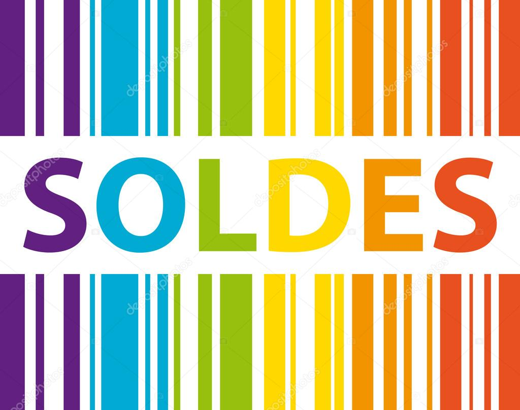 soldes code barre multicolore concept de magasinage. Black Bedroom Furniture Sets. Home Design Ideas
