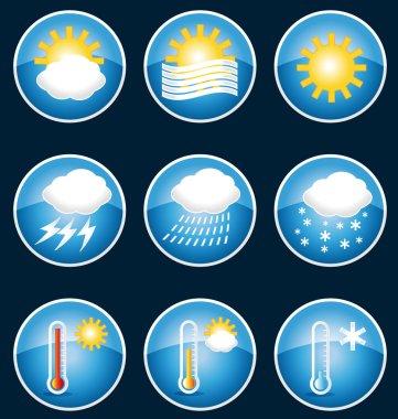 Weather icons. Vector set II.