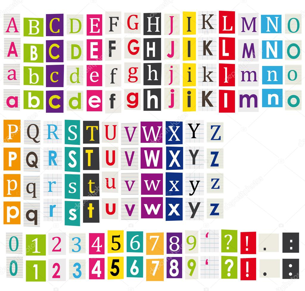 Colorful alphabet with letters cut from magazines stock vector colorful alphabet with letters cut from magazines stock vector spiritdancerdesigns Images