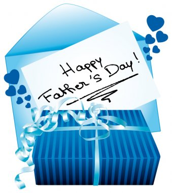 Happy father's day. Gift and greeting card.