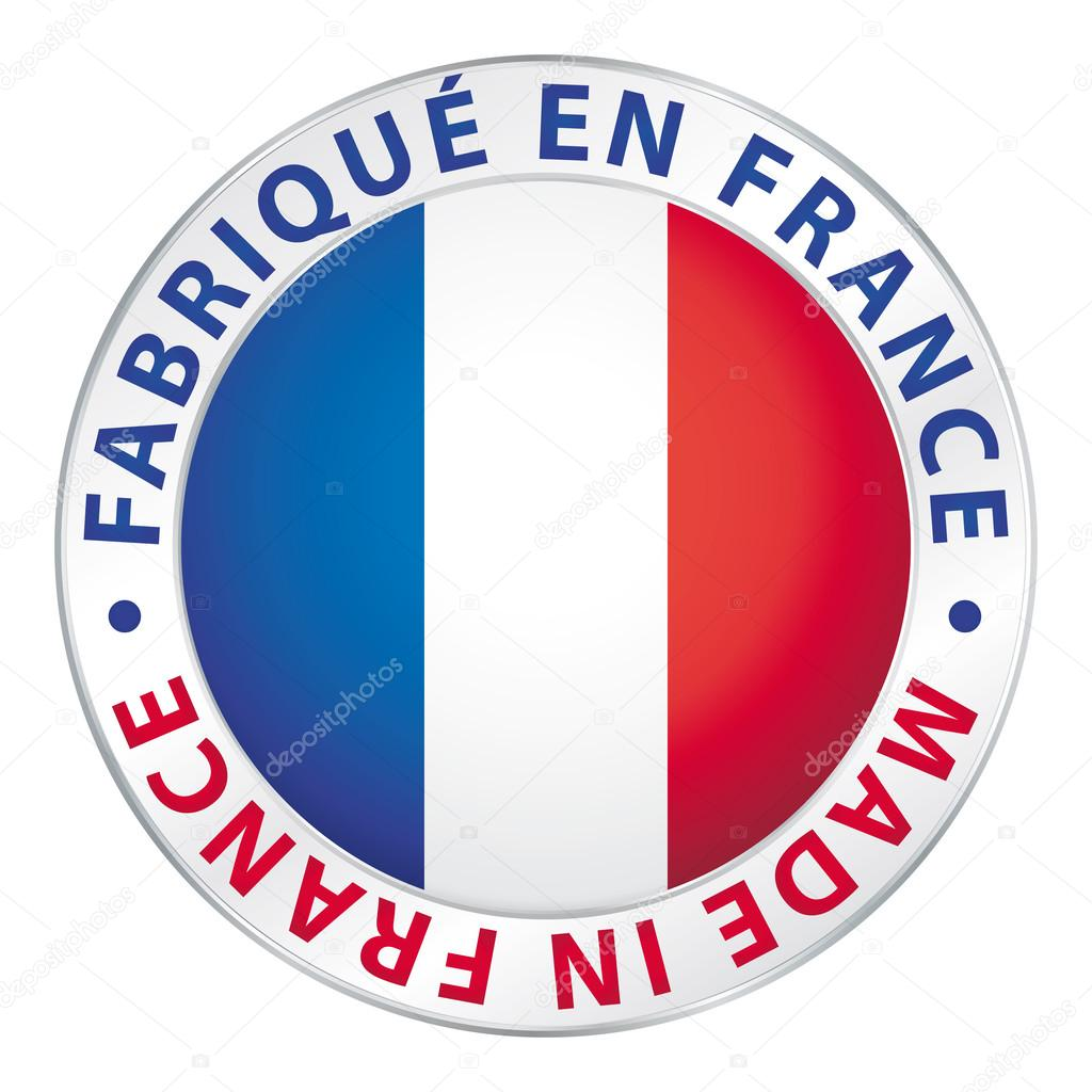 Made in France. Guaranteed flag label.