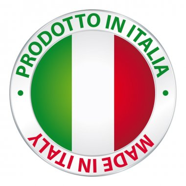 Made in Italy. prodotto in Italia. Flag label product.