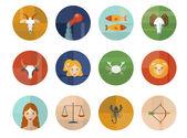 占星術星座のシンボルのセットです。星座