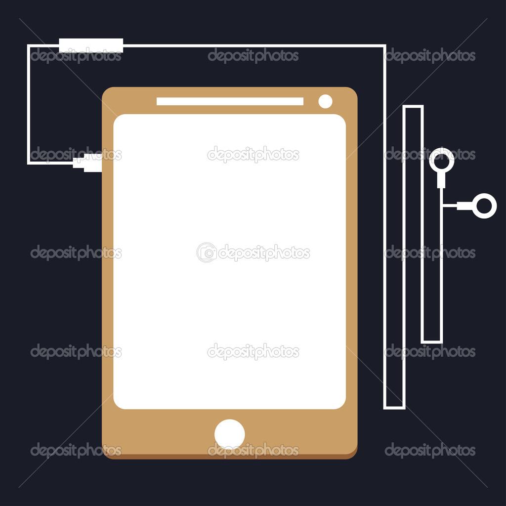 ClipArt Tablette mit Drähten — Stockfoto © carenas1 #32161895