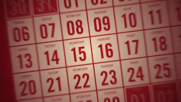 kalendářní měsíc červený