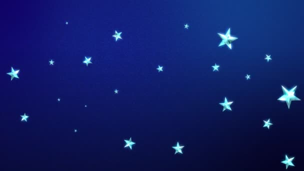 Looping Stars on Midnight Blue
