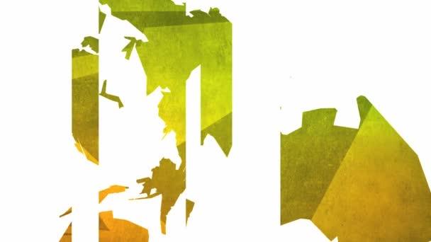 Světová mapa abstraktní smyčka hd