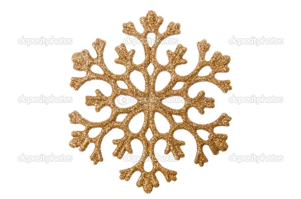 copo de nieve de Navidad color dorado — Foto de stock © maisicon ...