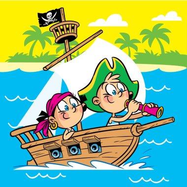 Teens play pirates