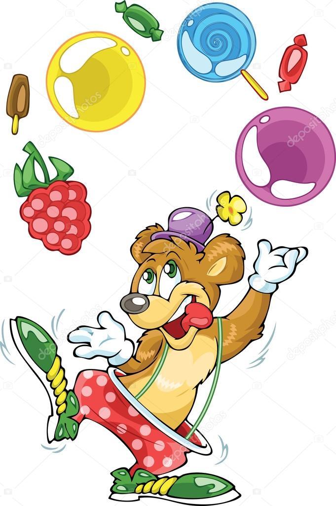 комнате картинка медведь жонглер уютная, тёплая