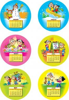 Funny children's calendar