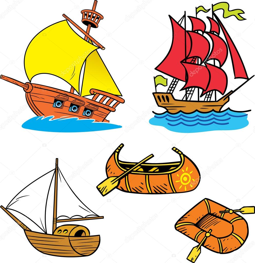 Group of small ships