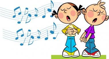 Children sing