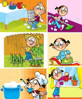 Domestic employment of children