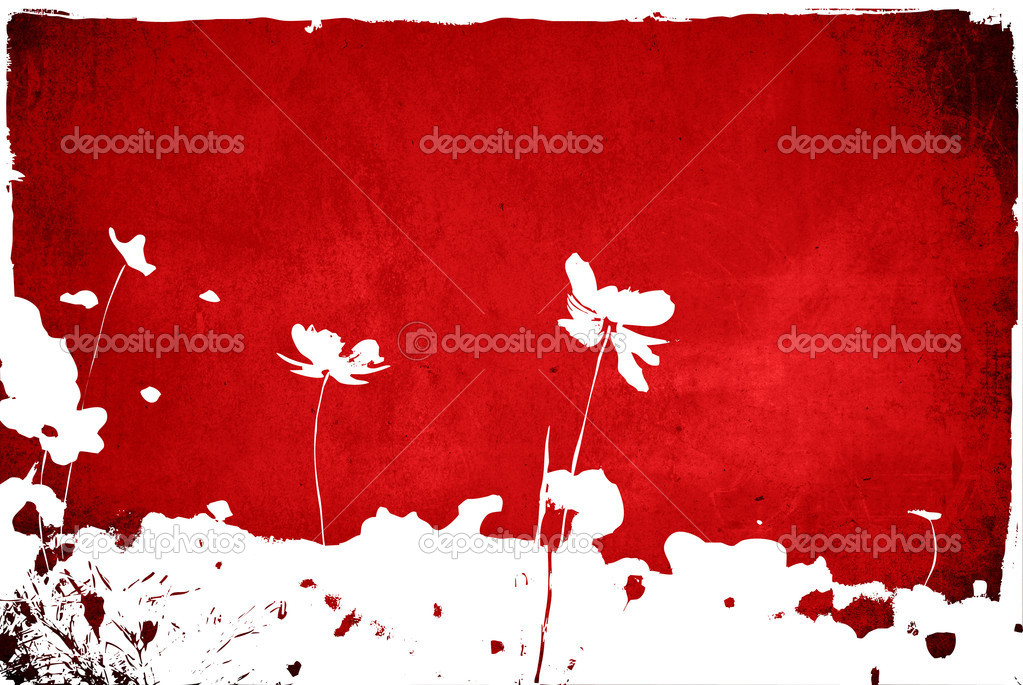 Floral style textures isolated on white