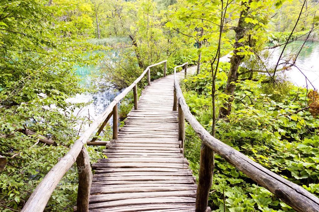 Wooden pathway - Plitvice lakes, Croatia