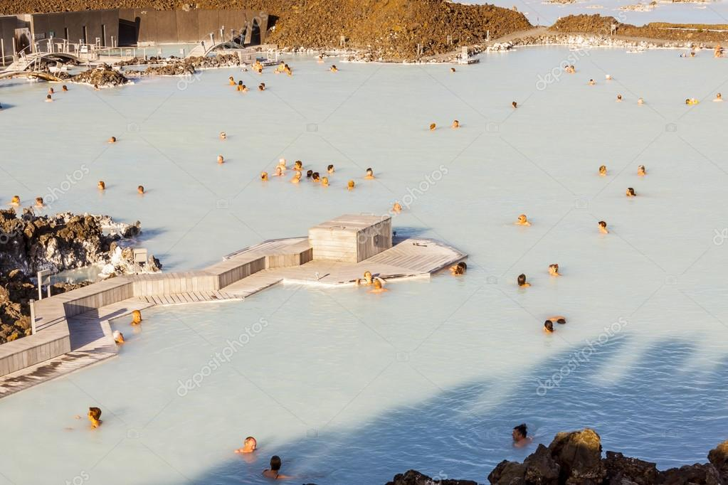 Aerial view on Blue Lagoon - Iceland
