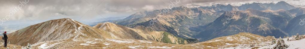 Panoramic view from Malolaczniak - Tatras Mounatins.