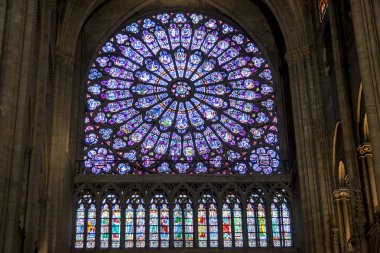 Interior of Cathedral Notre Dame - Paris.