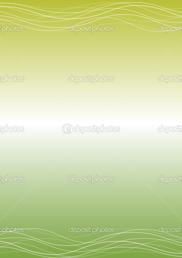 Sfondo Verde Chiaro Con Linee Curve Vettoriali Stock