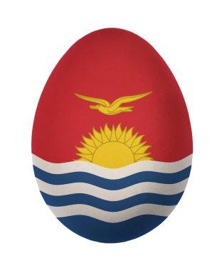 Colorful Kiribati flag Easter egg isolated on white background