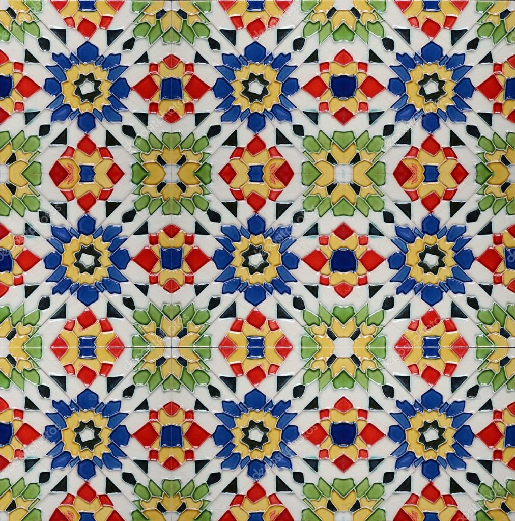 Portuguese Spanich Moroccan style vintage ceramic tile pattern ...