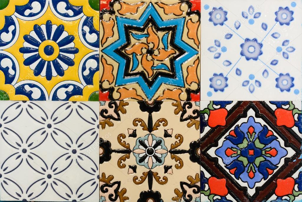Modello di piastrelle di ceramica d epoca stile marocchino