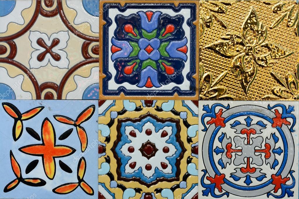 Modello di piastrelle di ceramica depoca stile marocchino spagnolo