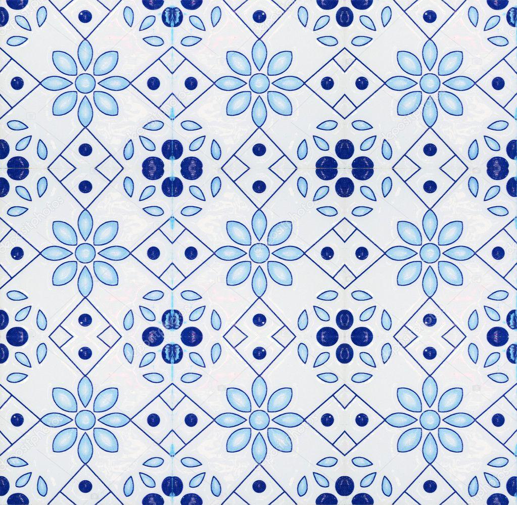 Portuguese spanich moroccan style vintage ceramic tile for Ceramic patterns designs