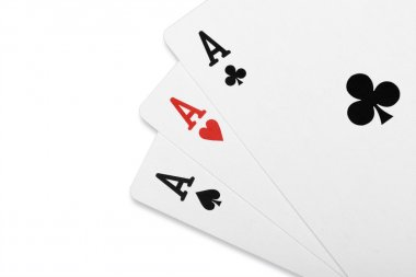 Poker card Three of a kind ace