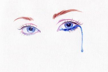 Woman eye .