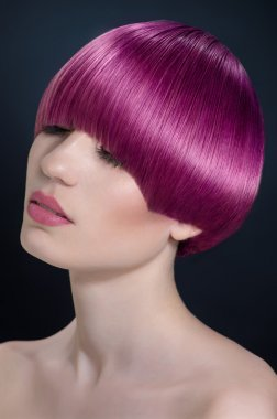 Woman with modern shorn hairstyle