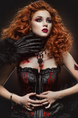 Gothic redhaired beauty