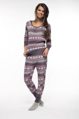 Woman in pajamas