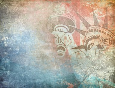 America background, grunge illustration