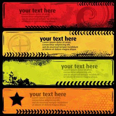 Summer Style Grunge Banners clip art vector