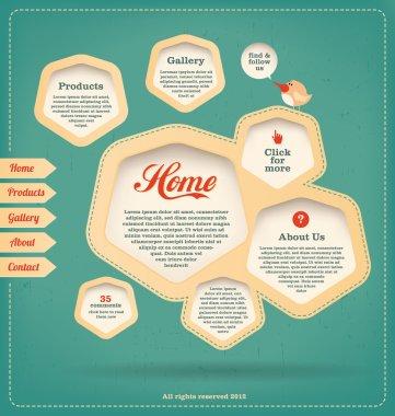 Web Design Template - Retro Landing Page