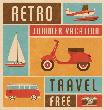 Summer Travel Design stock vector