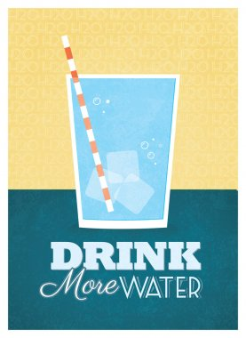 Drink More Water Poster Design