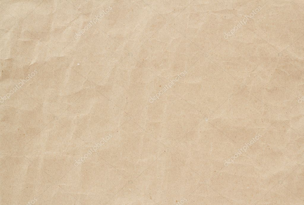 Light brown crumpled paper texture or background