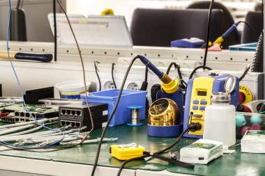 electronics equipment assembly workplace