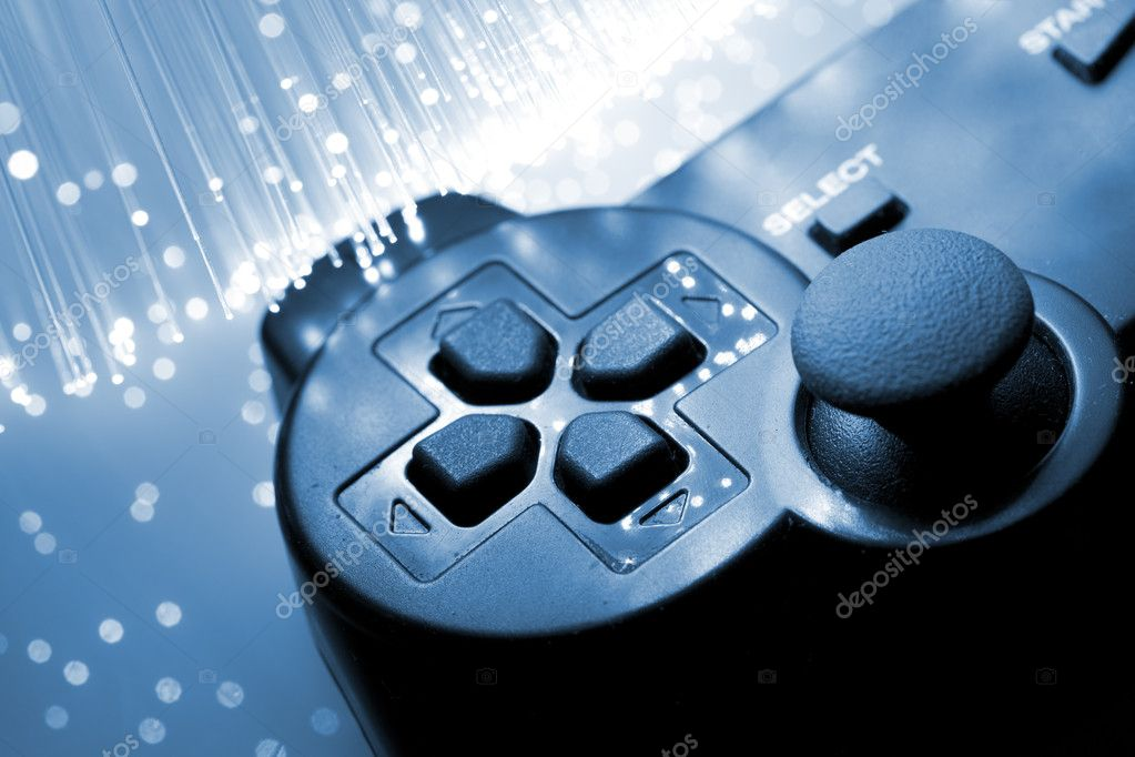 Game controller toned blue